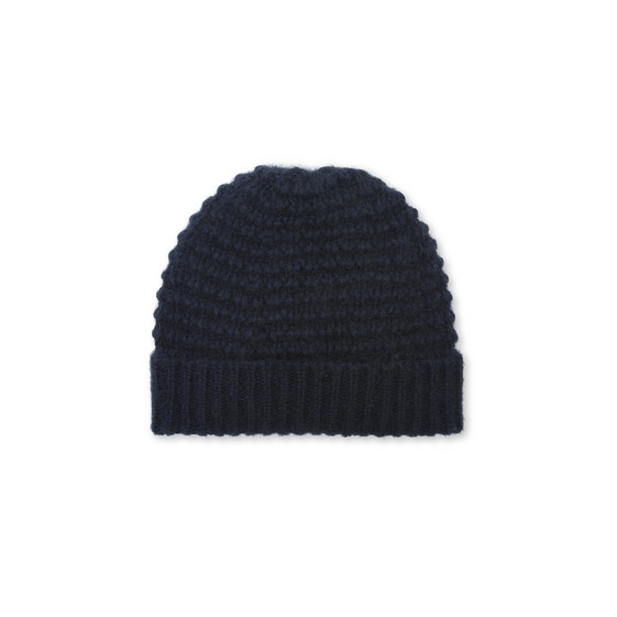 Cappello in Mohair Blu