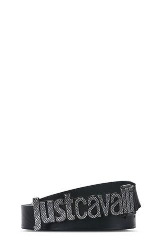 JUST CAVALLI Belt U Belt with python-effect design f