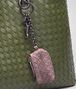 BOTTEGA VENETA KEY RING IN GLICINE INTRECCIATO NAPPA Keyring or Bracelets E ap