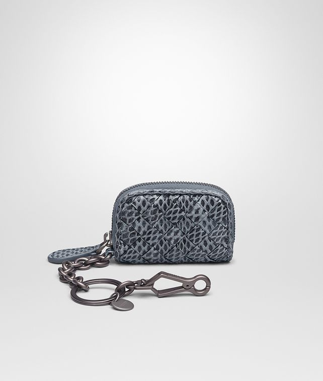 BOTTEGA VENETA KEY RING IN KRIM INTRECCIATO AYERS Keyring or Bracelets E fp