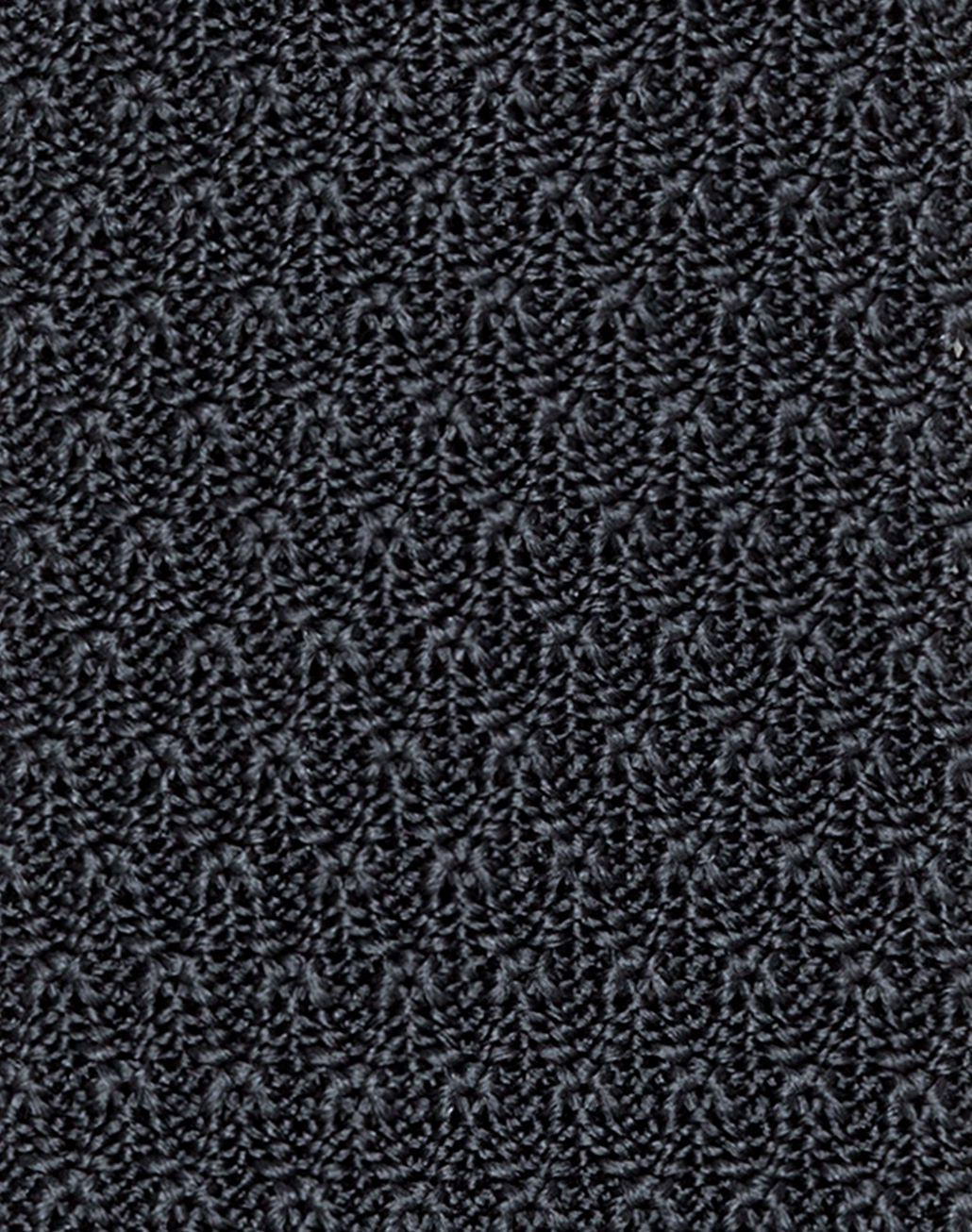 BRIONI Anthracite Knitted Tie Tie & Pocket Square U d