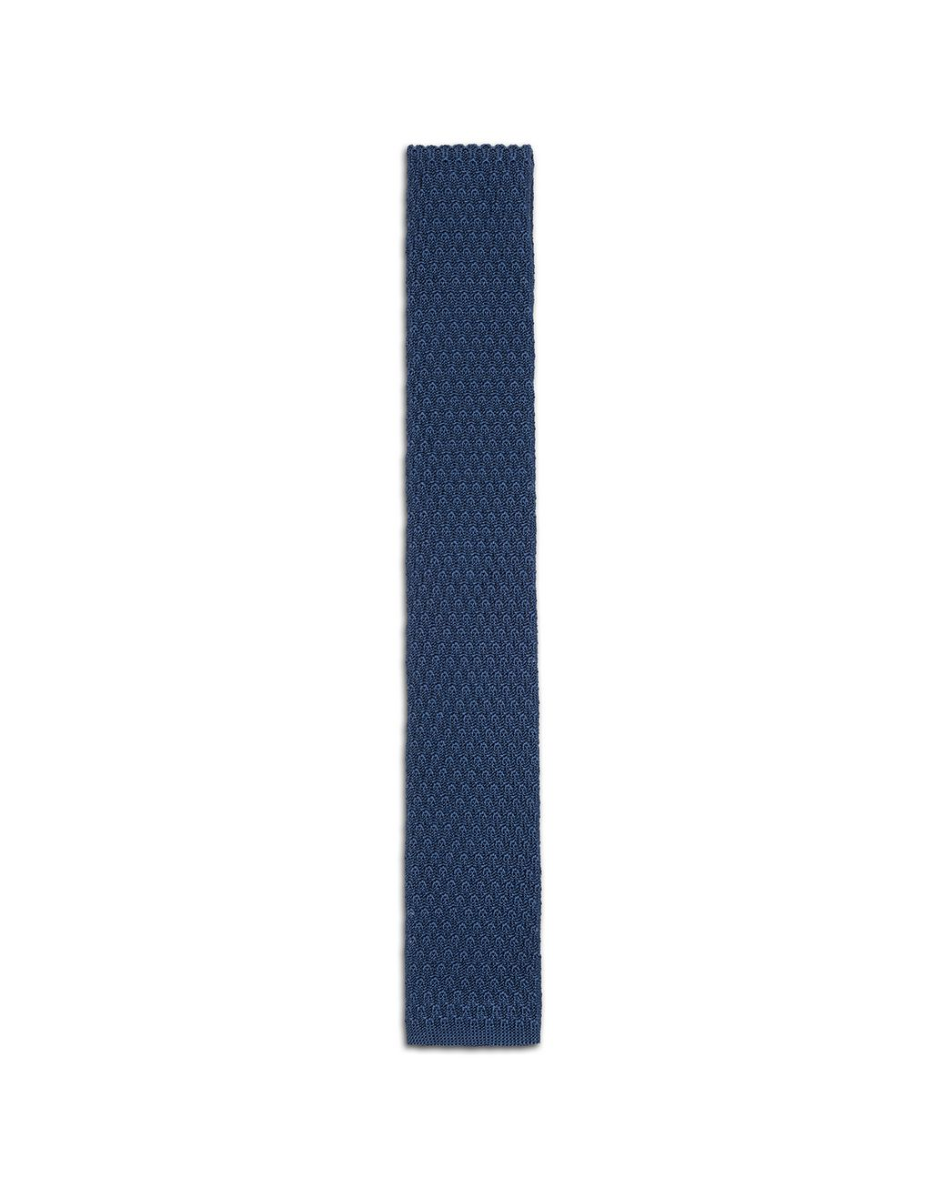 BRIONI Bluette Knitted Tie Tie & Pocket Square [*** pickupInStoreShippingNotGuaranteed_info ***] f