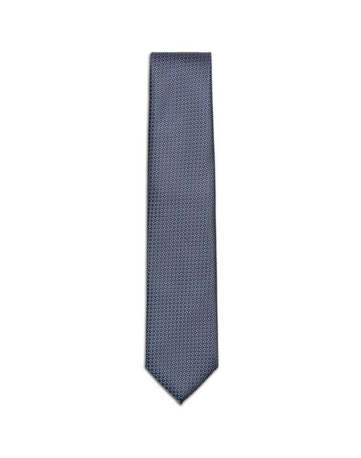 Grey and Bluette Micro-Design Tie