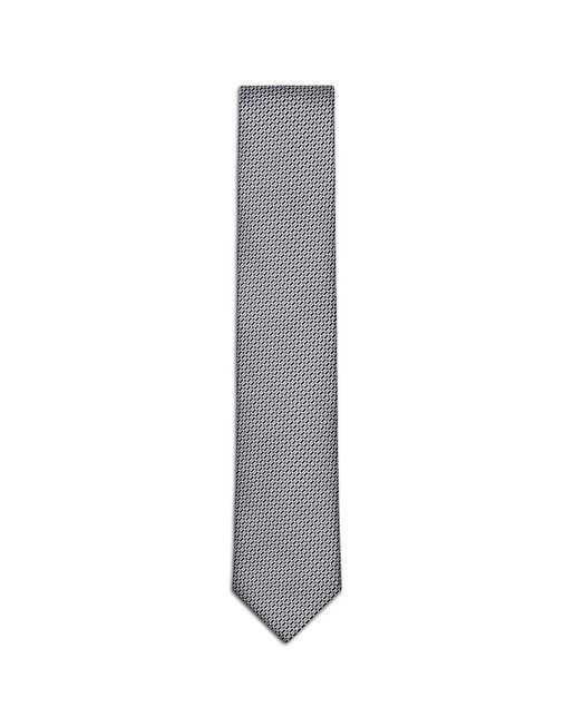 Black and Grey Micro-Design Tie