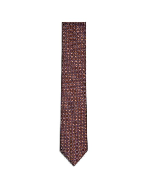 Burgundy and Mustard Micro-Design Tie