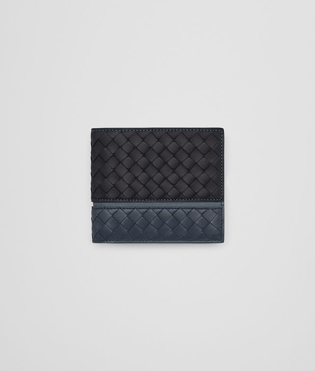 BOTTEGA VENETA BI-FOLD WALLET IN TOURMALINE DENIM KRIM INTRECCIATO NAPPA Bi-fold Wallet U fp