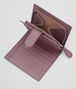 BOTTEGA VENETA MINI WALLET IN GLICINE EMBROIDERED INTRECCIATO NAPPA Mini Wallet or Coin Purse D lp