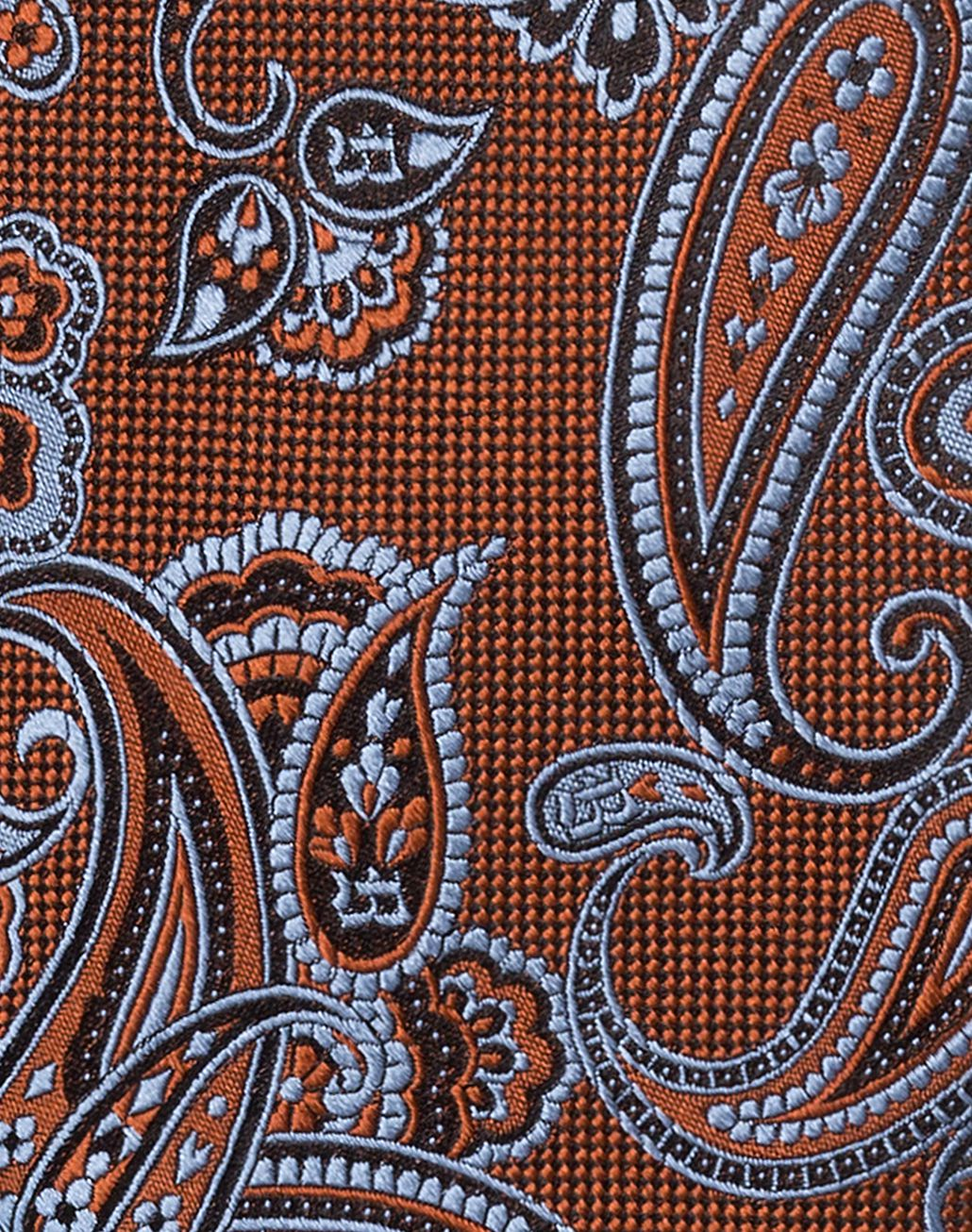BRIONI Rust and Bluette Paisley Tie Tie & Pocket Square [*** pickupInStoreShippingNotGuaranteed_info ***] d