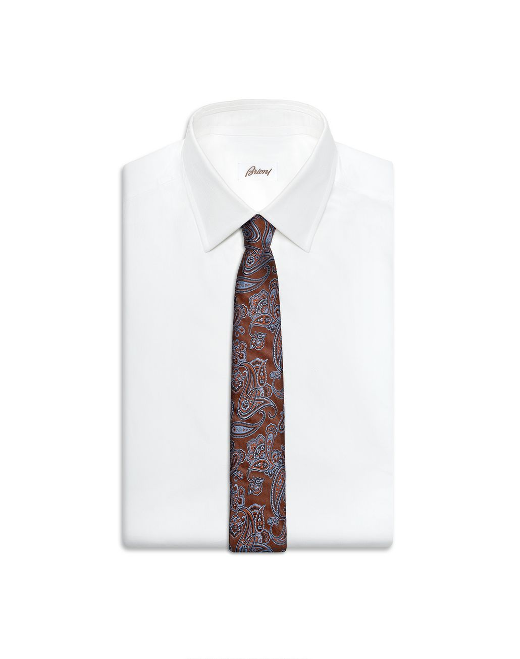 BRIONI Rust and Bluette Paisley Tie Tie & Pocket Square Man r