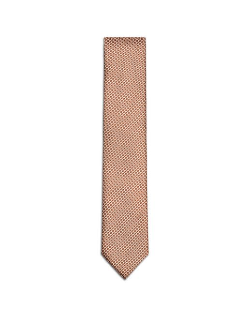Orange and Ivory Micro-Design Tie
