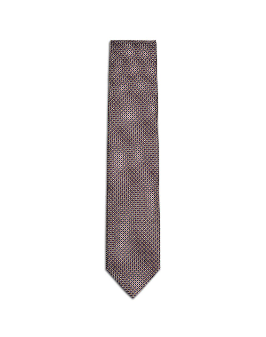 BRIONI Purlpe and Mustard Dotted Tie Tie & Pocket Square U f