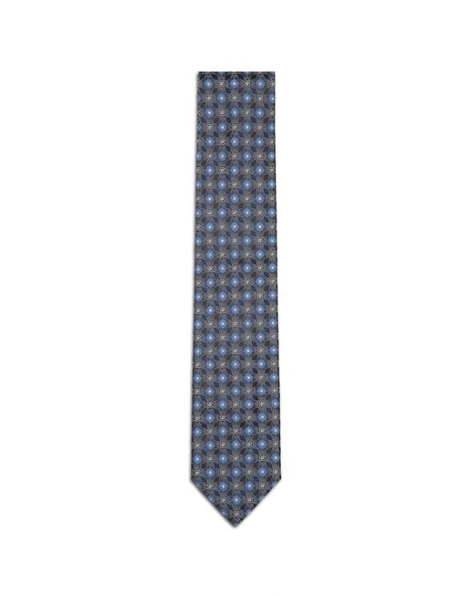 Navy Blue and Bluette Macro-Design Tie