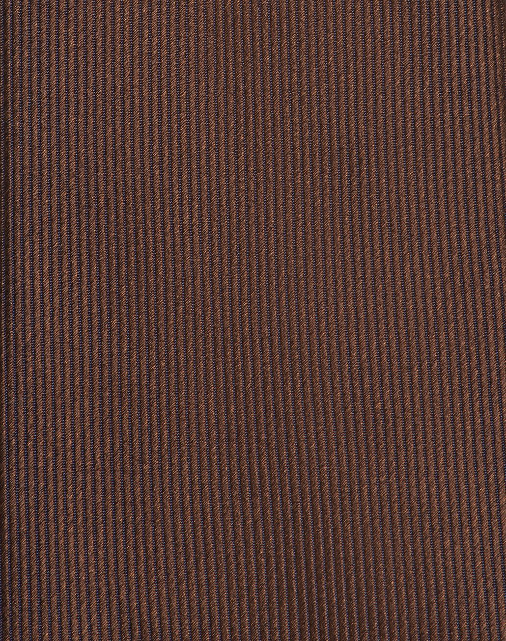 BRIONI Brown Pinstriped Tie Tie & Pocket Square Man d