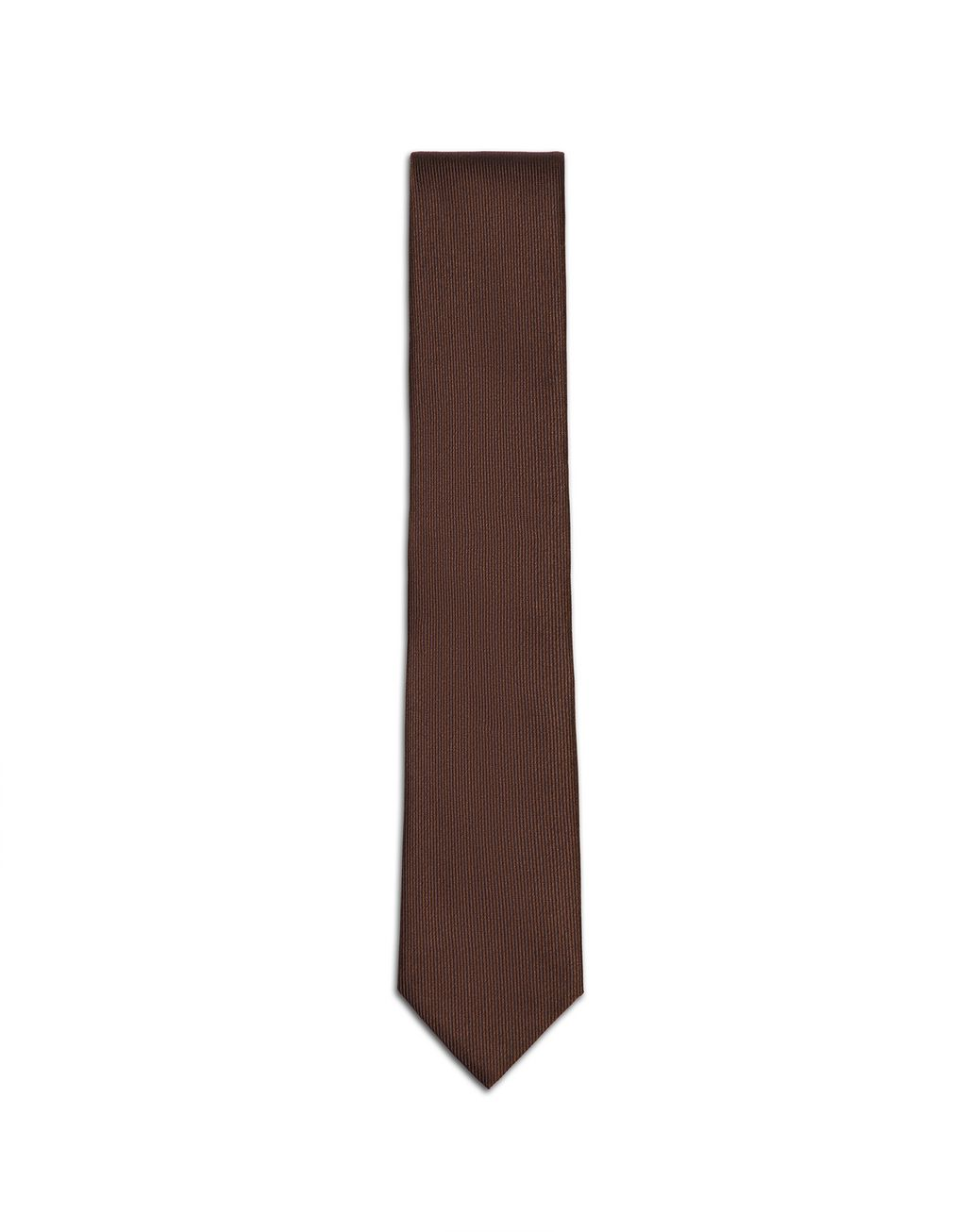 BRIONI Brown Pinstriped Tie Tie & Pocket Square Man f