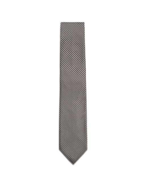 Black and Gray Micro-Design Tie