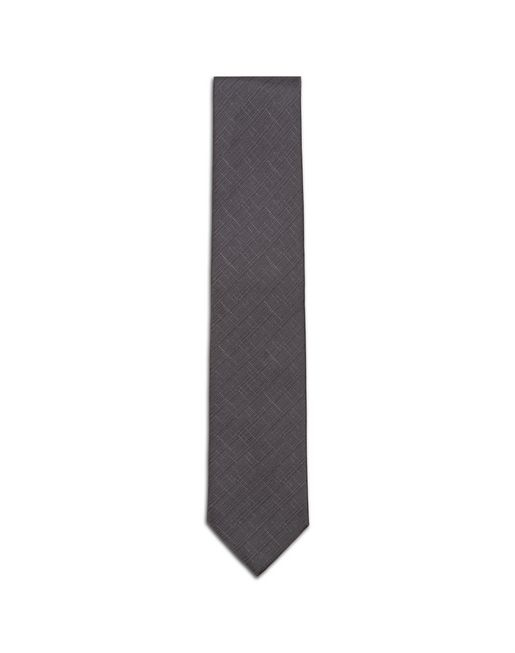 Cravate En Shantung Gris Graphite