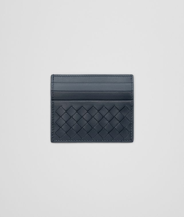 For Nice Sale Online Bottega Veneta denim krim Intrecciato nappa card case Cheap Classic Cheap Low Shipping Fee Discount Official Popular Cheap Price K8ken9p