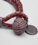 BOTTEGA VENETA BRACELET IN GLICINE BAROLO CHINA RED INTRECCIATO NAPPA CLUB Keyring or Bracelets Woman ap