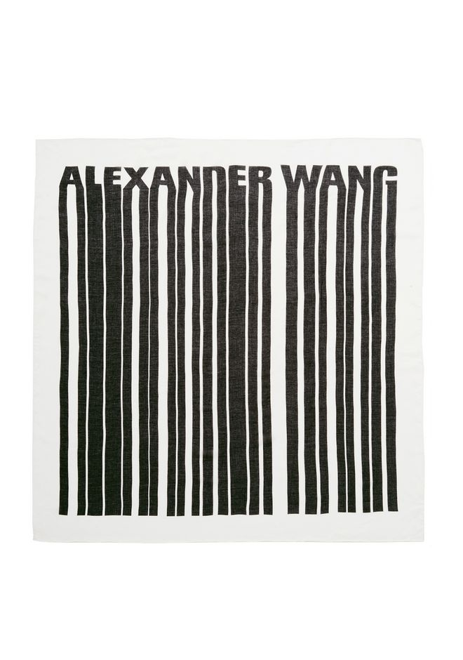 ALEXANDER WANG accessories SQUARE BARCODE SCARF