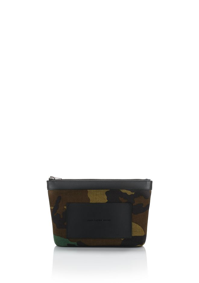 ALEXANDER WANG new-arrivals-accessories-woman SMALL CAMO CANVAS POUCH