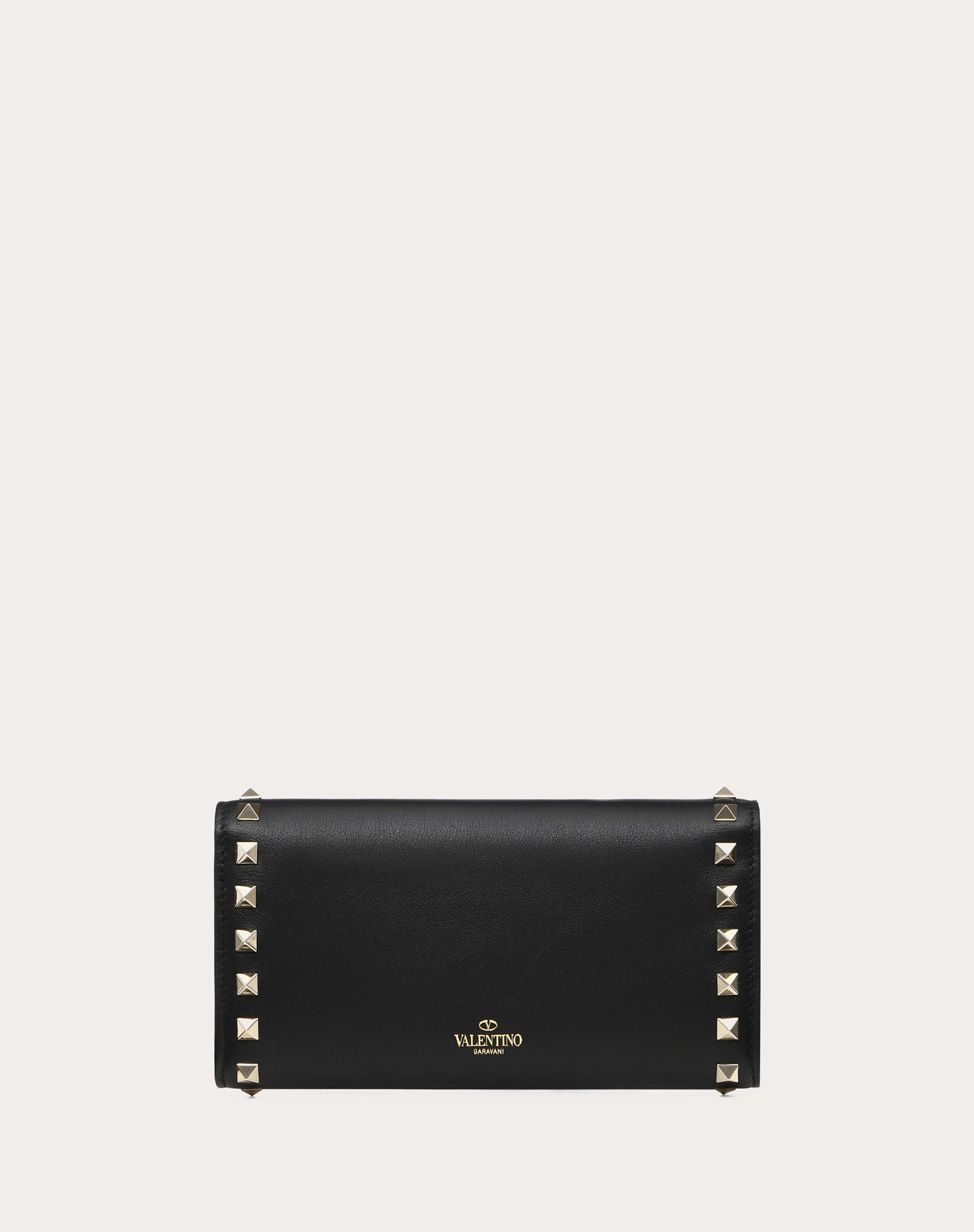VALENTINO Contrasting applications Snap button closure Internal card slots  46524715eq