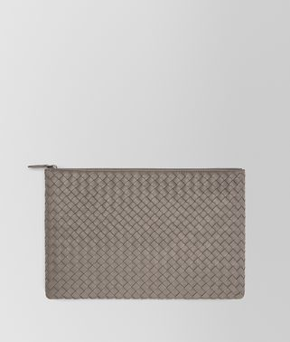 LARGE DOCUMENT CASE IN STEEL INTRECCIATO NAPPA LEATHER