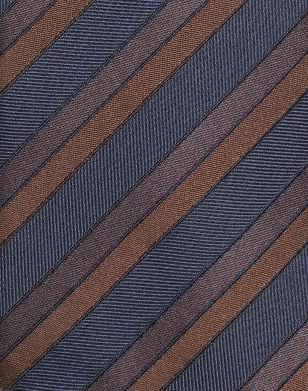 BRIONI Navy Blue and Rust Regimental Tie Tie & Pocket Square Man d