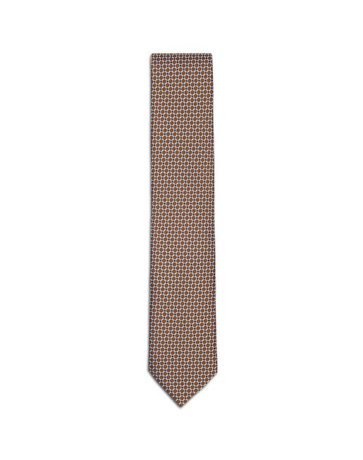 Orange Macro-Design Tie