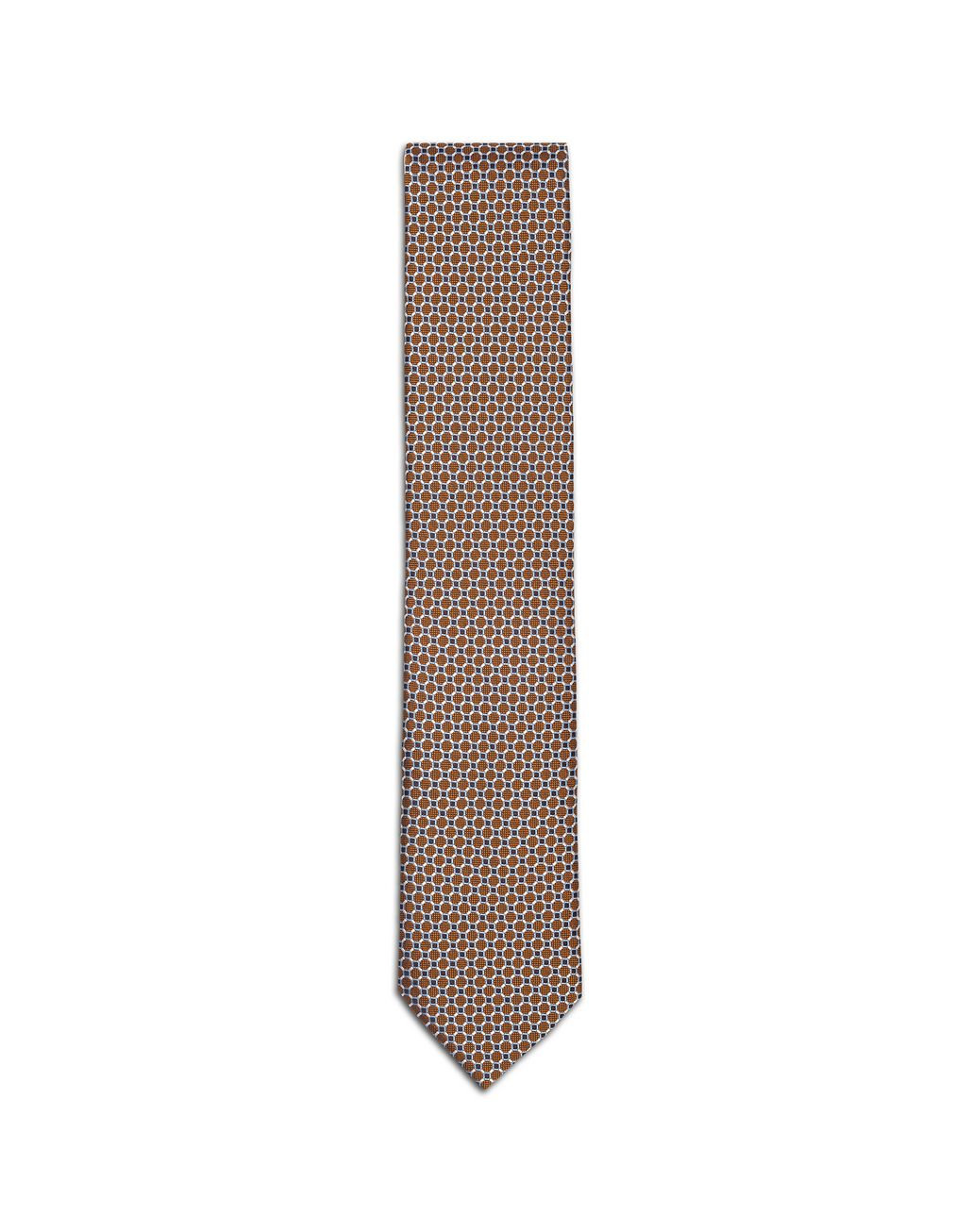 BRIONI Orange Macro-Design Tie Tie & Pocket Square Man f