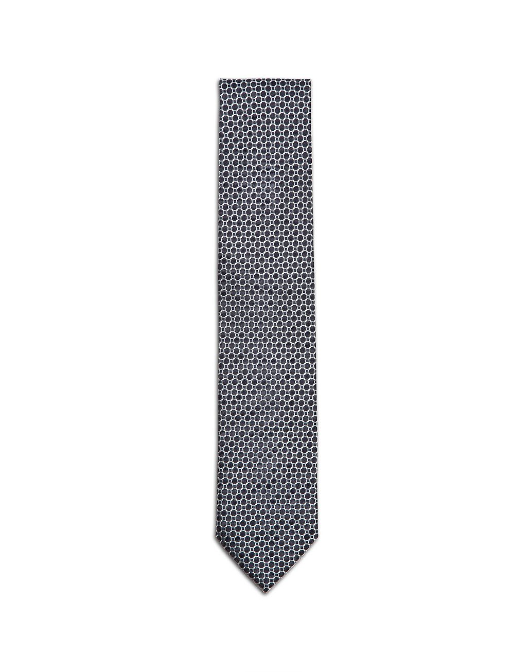 BRIONI Blue Macro-Design Tie Tie & Pocket Square Man f