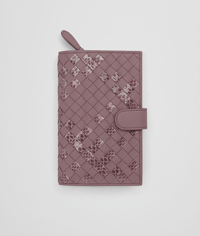 BOTTEGA VENETA CONTINENTAL WALLET IN GLICINE INTRECCIATO NAPPA AND AYERS Continental Wallet Woman fp
