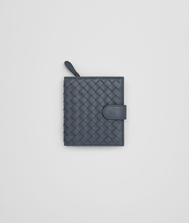 BOTTEGA VENETA MINI WALLET IN KRIM INTRECCIATO NAPPA Mini Wallet or Coin Purse D fp