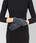 BOTTEGA VENETA GLOVE IN KRIM DENIM SUEDE, INTRECCIO DETAILS Hat or gloves Woman rp