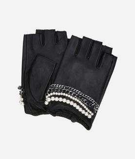 KARL LAGERFELD K/CHAIN FINGERLESS GLOVES