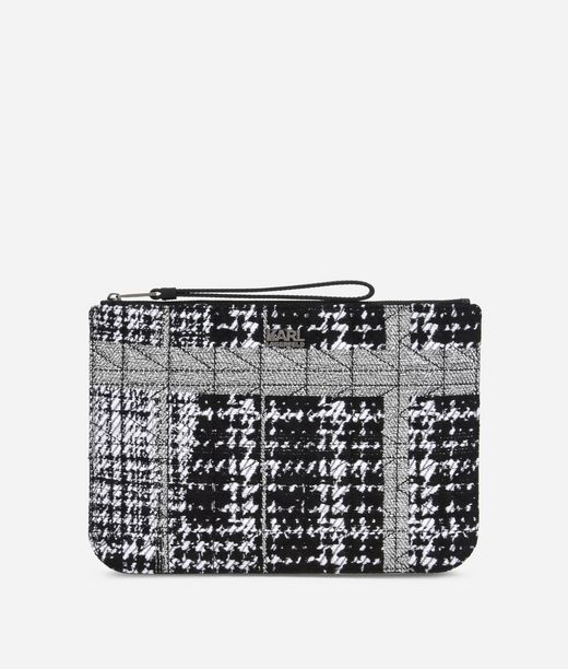 KARL LAGERFELD K/Kuilted Tweed Pouch 12_f