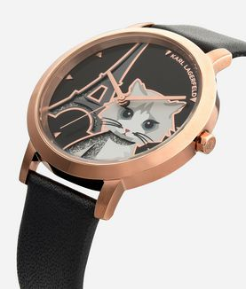 KARL LAGERFELD CHOUPETTE IN PARIS WATCH