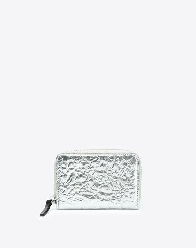 MAISON MARGIELA 11 Creased metallic calfskin wallet Wallet D f