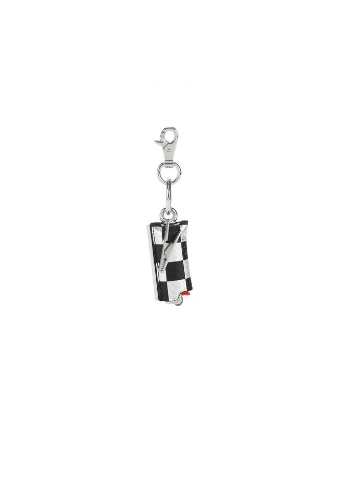 ALEXANDER WANG accessories SMALL LIGHTER CASE IN CHECKERBOARD ELAPHE