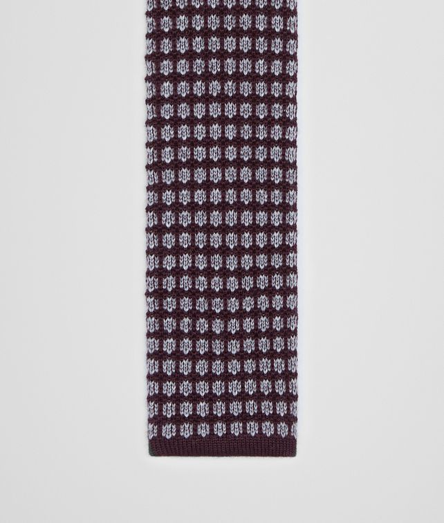 BOTTEGA VENETA TIE IN AMARANTH MEDIUM GREY KNITTED WOOL Tie U fp