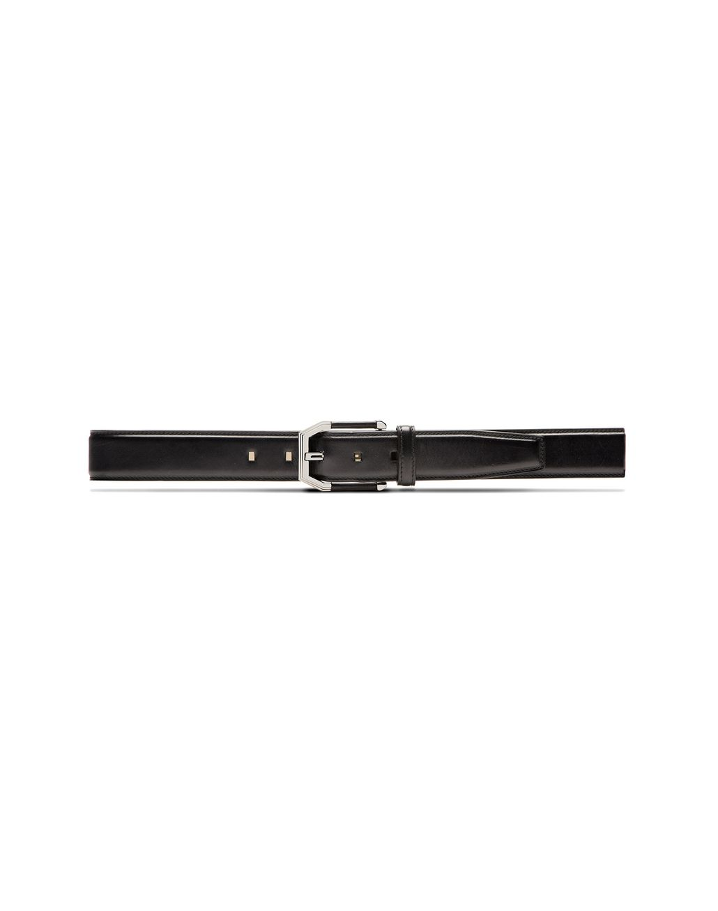 BRIONI Black Belt in Calfskin Leather with Leather Details on Buckle Belt U f