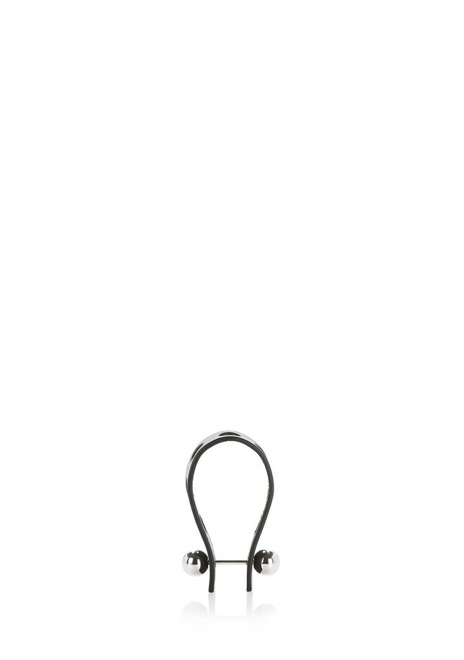 ALEXANDER WANG PUNCHED KEYCHAIN IN BLACK VACHETTA  小皮件 Adult 12_n_d