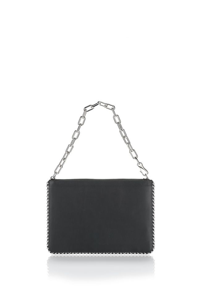 ALEXANDER WANG new-arrivals-accessories-woman STUDDED ATTICA CHAIN LARGE POUCH