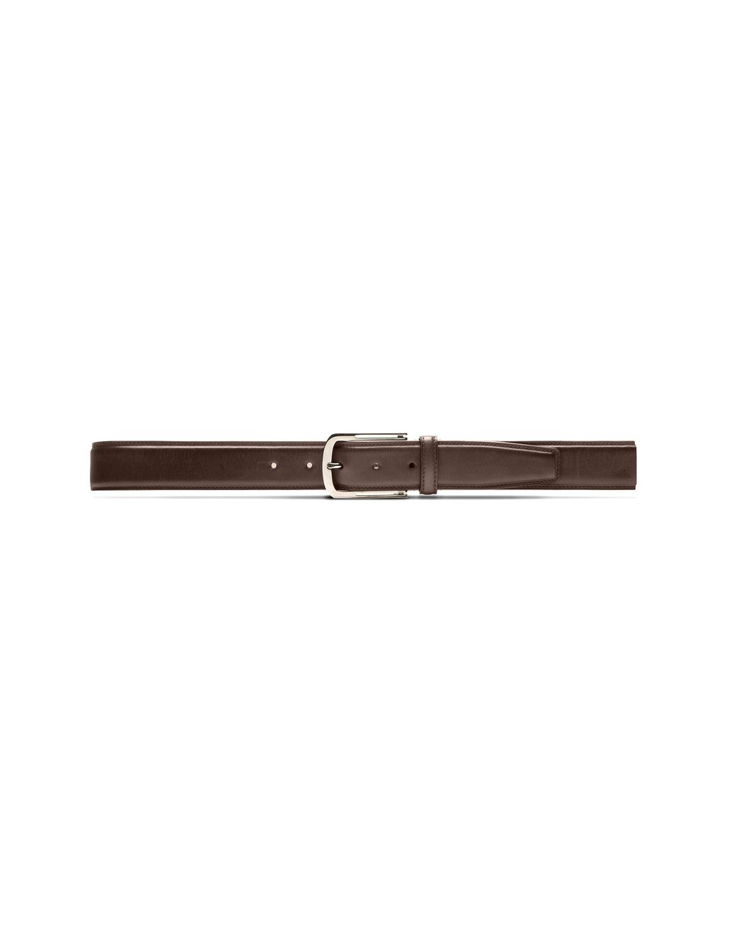BRIONI Brown Belt in Calfskin Leather Belt Man f