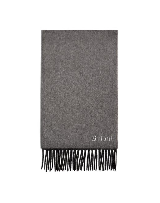Anthracite and Grey Double Faced Cashmere Scarf