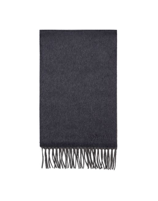 Anthracite and Navy Blue Double Faced Cashmere Scarf