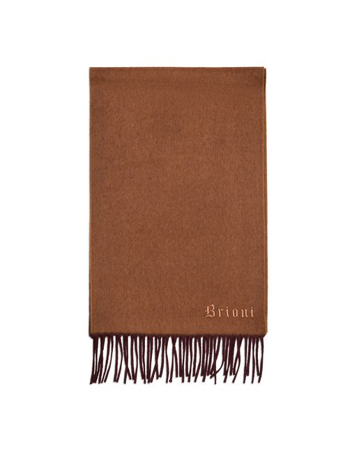 Brown and Amaranth Double Faced Cashmere Scarf