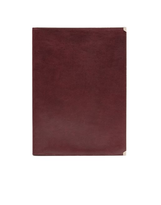 Burgundy Zip Around Document Holder