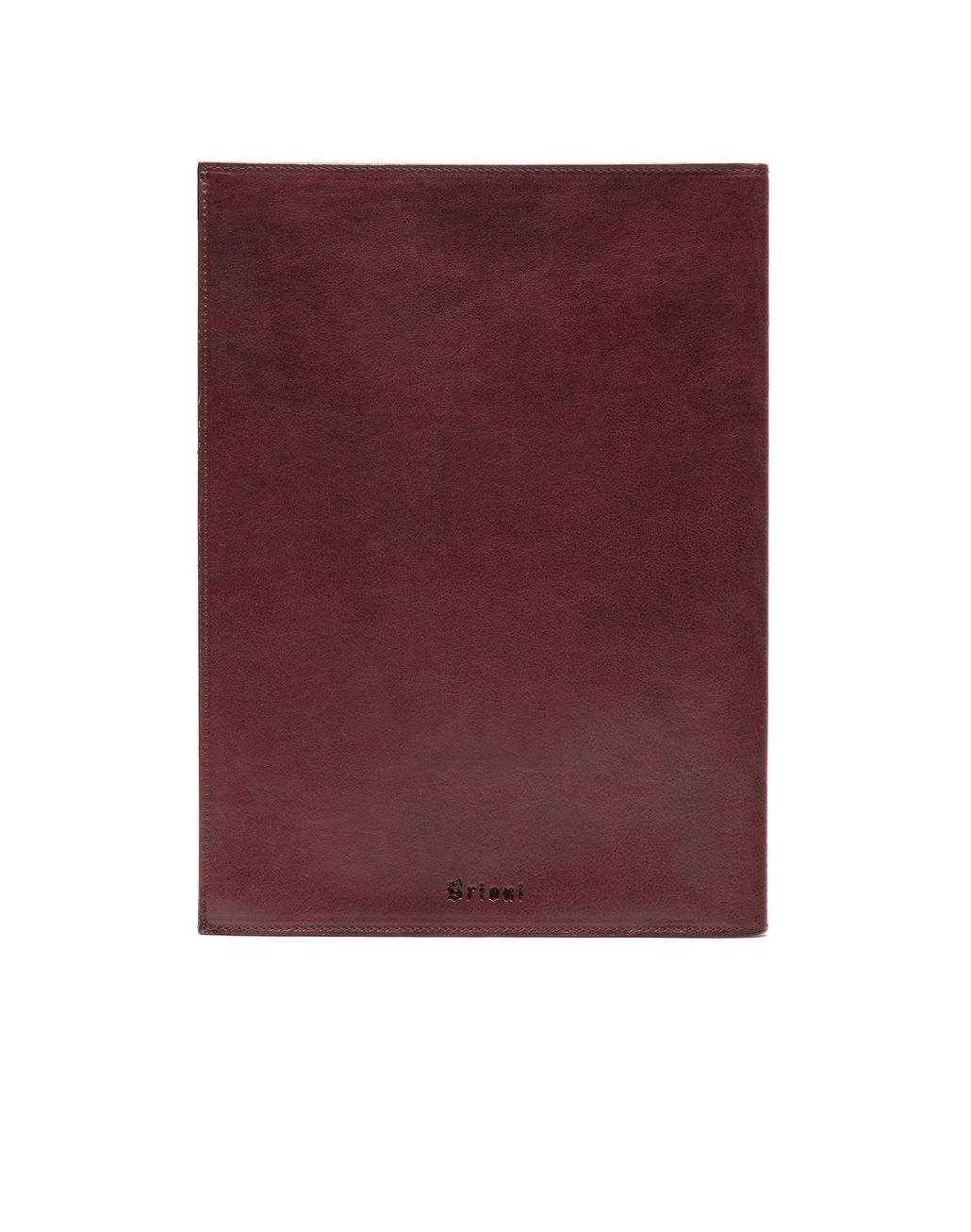 BRIONI Burgundy Zip Around Document Holder Leather Goods Man d
