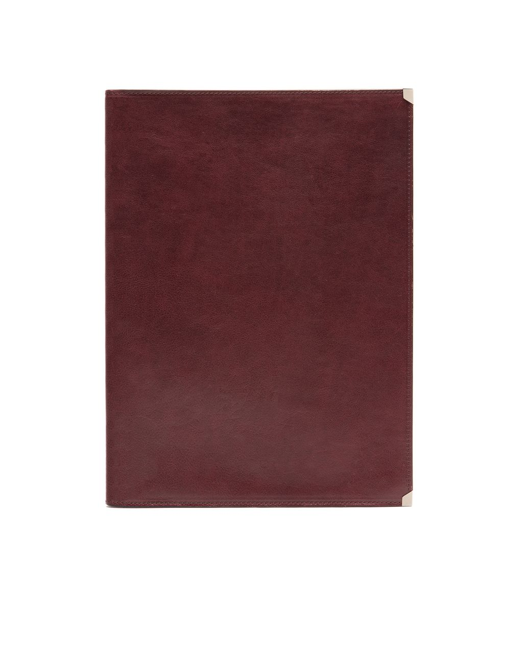 BRIONI Burgundy Zip Around Document Holder Leather Goods U f