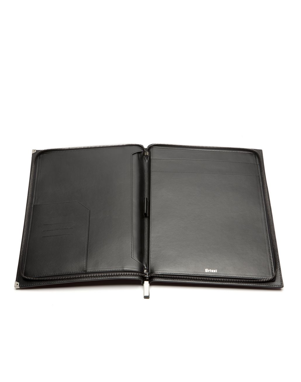 BRIONI Burgundy Zip Around Document Holder Leather Goods U r